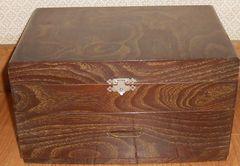昭和のお母さんが使っていた裁縫箱です。程度良
