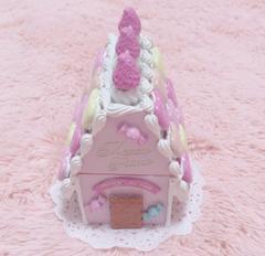 メゾピアノ*お菓子の家小物入れ*ピンク ホワイト ケーキ