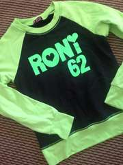 RONI・デカロゴトレーナー・黄緑黒・L