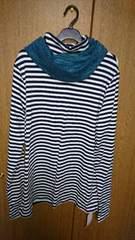 4L☆ネイビーボーダーTシャツ