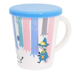 ◆ムーミン フタ付きマグカップ/森の中、贈り物
