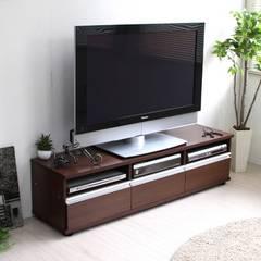 ダークナチュラル ローボード(幅150�p)テレビ台
