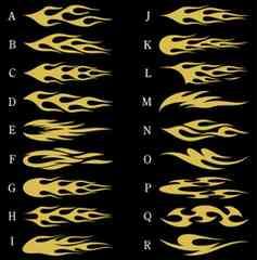 ファイアーパターン ゴールドメタ 小 20センチ 2枚組