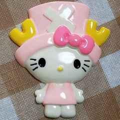 BIGパーツ☆チョッパー(ピンク)キティ☆約8.5cm