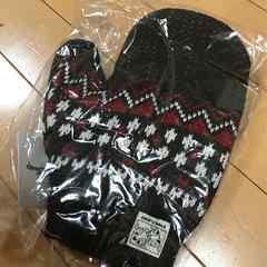 新品◆チップ&デール◆ニット手袋◆レディス用ブラウン