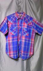 アメリカ古着 OUTLAW チェック ウエスタンシャツ XL ラングラー リー