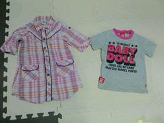 BABYDOLL/ドリベビ★ワンピース&Tシャツ(100cm)2着セット
