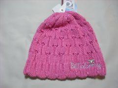 wb169 女 BILLABONG ビラボン ニット帽 ピンク