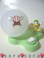 ディズニー【ドナルド】可愛い♪ボール回転式野球/小物入