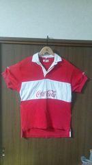 ☆古着/当時物【コカコーラ/半袖ポロシャツ/Lサイズ位】Coca-Cola/送料360円