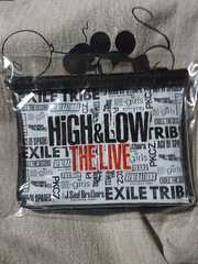 HiGH&LOW THE LIVE ロゴ ビニールポーチ 非売品