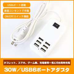 2個 USB急速充電器 20W 4A USB コンセント 6ポート 充電器