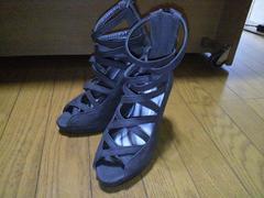 KOBE LETTUCE/神戸レタスあみあみサンダル(濃いグレー)