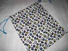 BABYDOLL 巾着 Lサイズ 34×29cm ホワイト