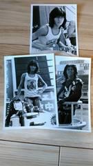 西城秀樹公式写真1970年代(大阪球場)白黒写真3枚セット