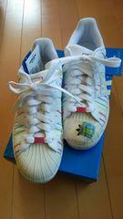 adidas  アディダス  白×レインボー  26、5センチ