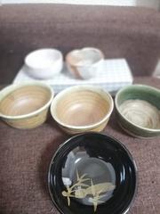 ☆激安☆高級陶器お椀・天目・小椀6点セット(未使用)