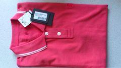 激安80%オフプリングル、半袖ポロシャツ(新品タグ、ピンク、L)