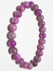 天然石パワーストーン/8mm珠 紫龍晶/ブレスレット(レディスサイズ)