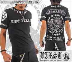 メール便送料無料【MAD BURST JAPAN】70537Tシャツ黒銀L