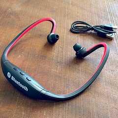 Bluetooth 4.0  ヘッドホン イヤフォン イヤホン スポーツ 赤