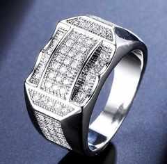 特A品 新品1円〜★送料無料★重厚24号ダイヤモンド73石プラチナリング指輪