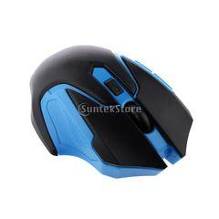 ☆2.4GHzワイヤレスマウス光学式ゲーミングマウス ブルー