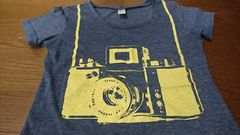 カメラプリントTシャツ/M