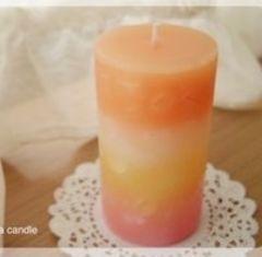 キャンドル×オレンジ