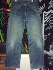 リーバイス504色落ちジーンズ太めストレート