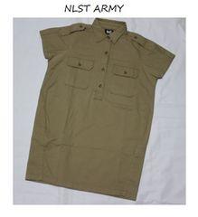 エヌリスト*NLST ARMY*ジャーナルスタンダードミリタリーシャツワンピース
