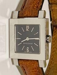 良品ブルガリクアドラードレディース時計SQ22SL定価30万革ベルト