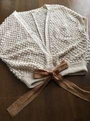 【CROLLA】きなりポップコーン編みドルマンスリーブカーデ極美品
