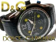 良品 1スタ★ドルガバ/D&G【クロノグラフ】大型のメンズ腕時計