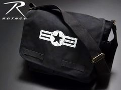 ROTHCO社製・「ARMY AIRCORP」メッセンジャーバッグ・黒・新品