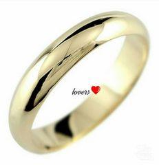 送料無料19号ゴールドサージカルステンレスシンプルリング指輪