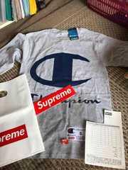 正規品 supreme champion L/S TEE 17SS 灰色Sサイズ