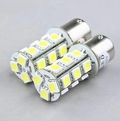 12V用 S25 LED 18連シングル ホワイト 4個+保障1個 (計5個)