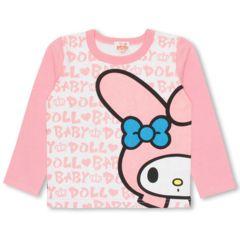 新品BABYDOLL☆120 マイメロディ ロンT ロゴ総柄 Tシャツ ベビードール