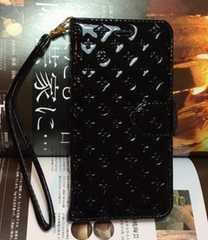 iPhone6プラス/iPhone6Sプラス ケース 新ジェニー花2 手帳型 黒