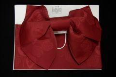 浴衣に♪超簡単!子供浴衣結び帯作り帯赤薔薇と蝶