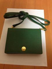 未使用品・フォクシーのポシェットお財布>綺麗なモスグリーン
