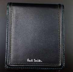 大人気☆新品 ポールスミス 人気ステッチ 二つ折り財布 黒