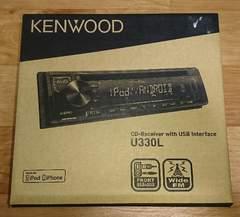 美品/KENWOOD CDレシーバー U330L フロントUSB&AUX