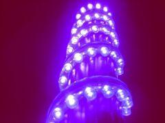 超発光/防水 LEDチューブ 33�p パープル/紫