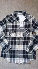 ♪新品KOBE LETTUCE 白黒チェックネルシャツ♪