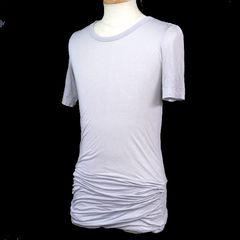 sistereシステレ 裾ドレープTシャツ