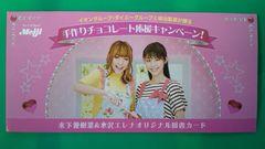 木下優樹菜&水沢エレナ500円分×2枚組抽プレ図書カード