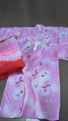 ピンク浴衣 100サイズ 帯付き
