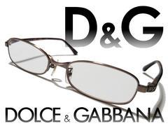 良品 1スタ★ドルガバ/D&G 細フレームの美しいメガネ